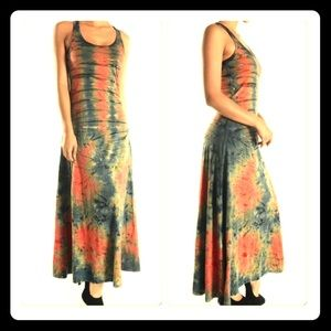 T Party Tie Dyed Maxi Tank Dress